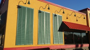 Close up image of EIFS Popeyes