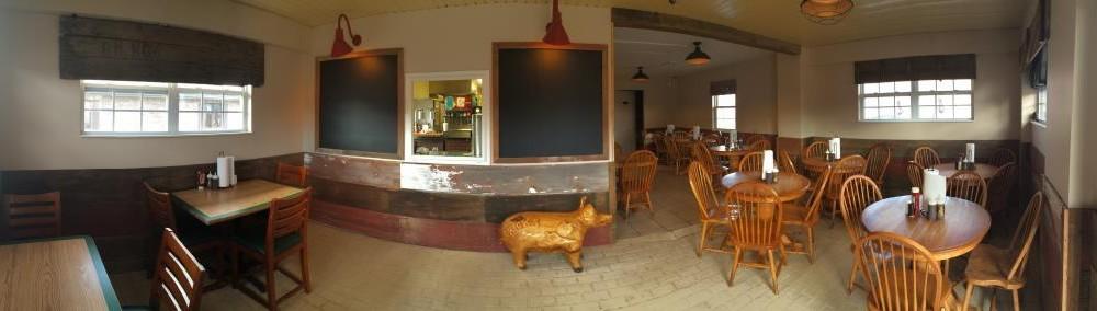 Hicks BBQ restaurant full view smaller file size